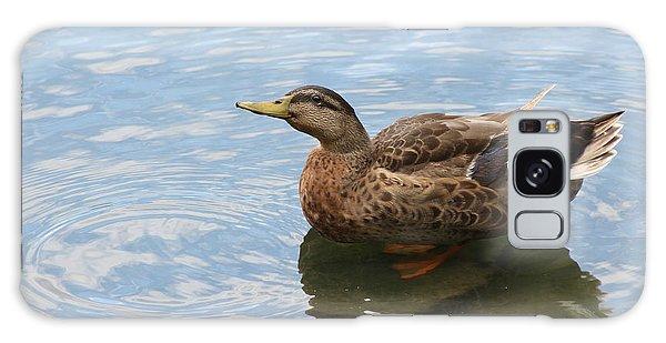 Happy Duck Galaxy Case by Jeanne Kay Juhos