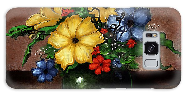 Happy Flowers Galaxy Case