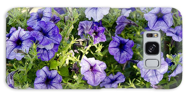 Happy Flowers Galaxy Case by Wilma  Birdwell