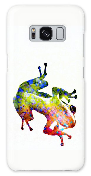 Happy Frog Galaxy Case by Darla Wood