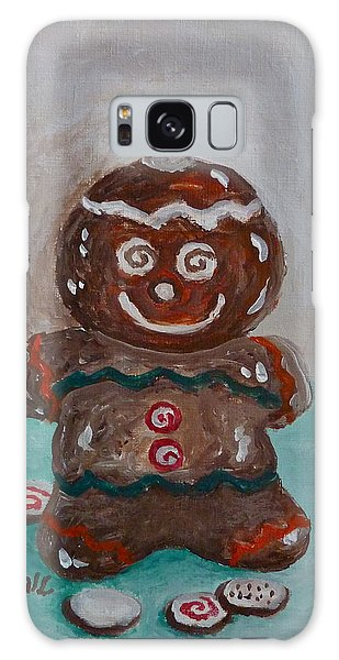Happy Gingerbread Man Galaxy Case by Victoria Lakes