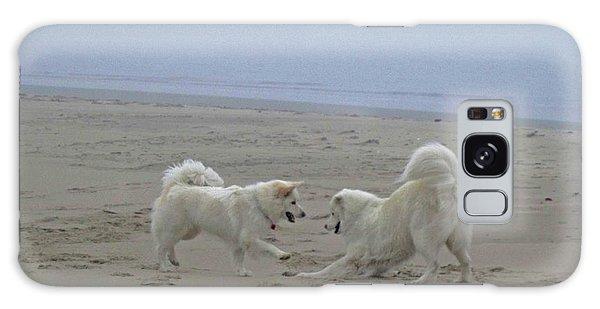 Happy Girls Beach Side Galaxy Case by Fiona Kennard
