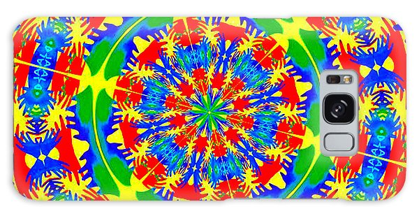 Happy Hands Mandala Galaxy Case by Linda Weinstock