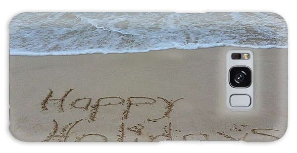 Happy Holidays Beach Messages Galaxy Case