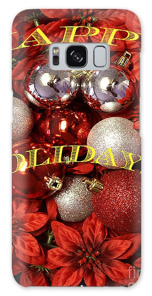Happy Holidays Galaxy Case by Gary Brandes