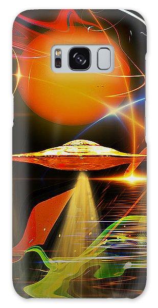 Galaxy Case featuring the digital art Happy Landing by Eleni Mac Synodinos