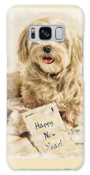 Maltese Happy New Year Galaxy Case
