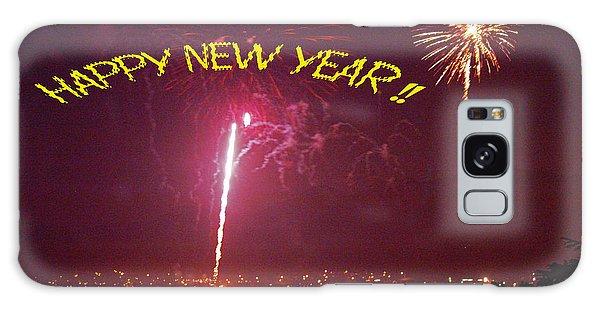 happy New Year fireworks Galaxy Case