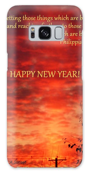 Happy New Year Sunset Galaxy Case