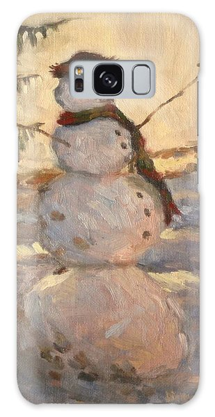Happy Snowman Galaxy Case