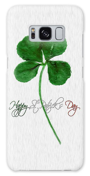 Happy St. Patrick's Day 4 Leaf Clover Galaxy Case