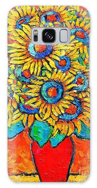 Happy Sunflowers Galaxy Case