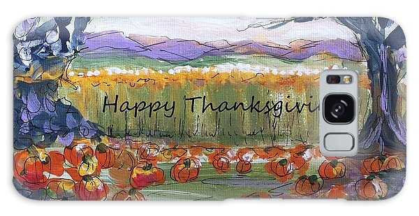 Happy Thanksgiving Greeting Card Galaxy Case