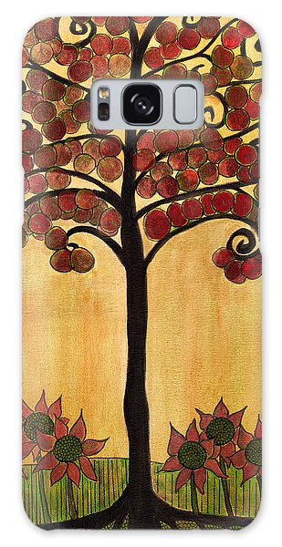 Happy Tree In Red Galaxy Case