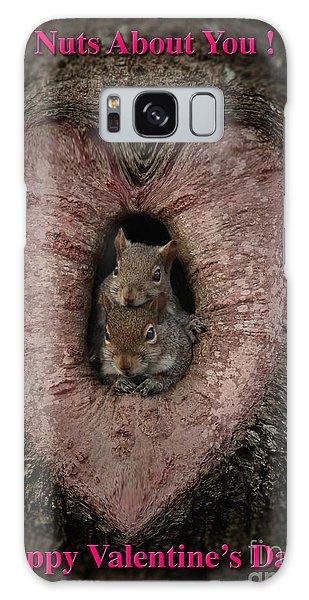 Happy Valentine Squirrels Galaxy Case