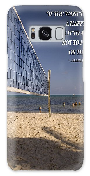 Happy Volleyball Goal Galaxy Case by Bob Pardue