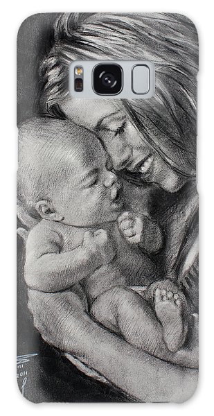 Young Galaxy Case - Happy Young Mother by Ylli Haruni