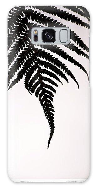 Hapu'u Frond Leaf Silhouette Galaxy Case by Lehua Pekelo-Stearns
