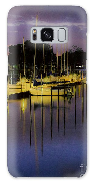Harbor At Night Galaxy Case