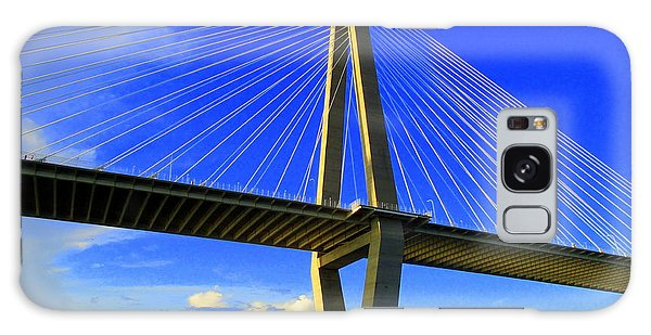 Harbor Bridge 3 Galaxy Case by Randall Weidner
