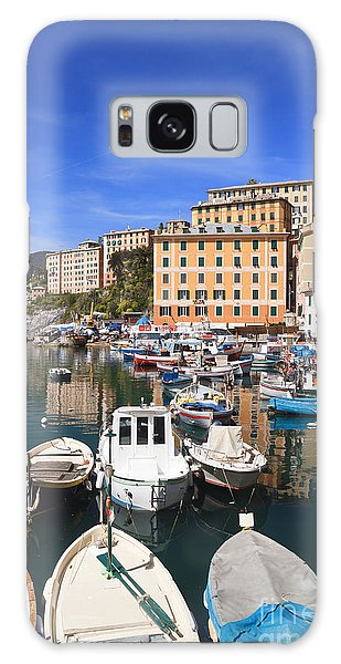 harbor in Camogli - Italy Galaxy Case