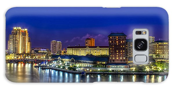 Harbor Island Nightlights Galaxy Case by Marvin Spates