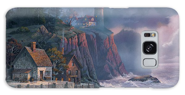 Harbor Light Hideaway Galaxy Case by Michael Humphries