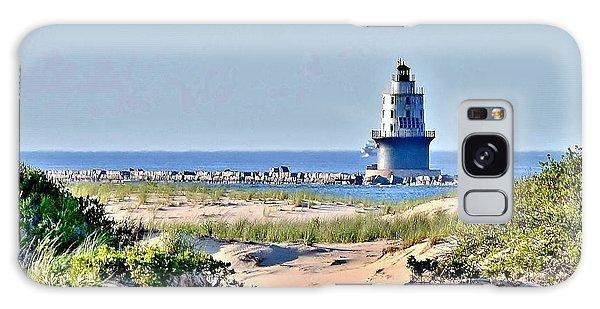 Harbor Of Refuge Lighthouse Galaxy Case