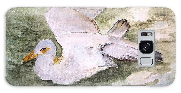 Harbor Sea Gull Galaxy Case by Carol Grimes