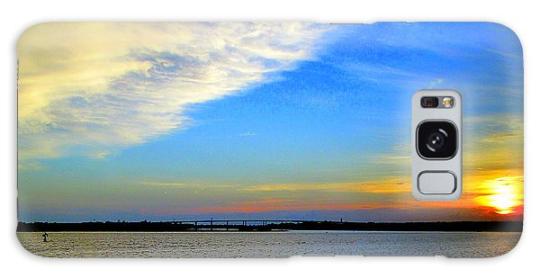 Harbor Sunset 2 Galaxy Case by Randall Weidner
