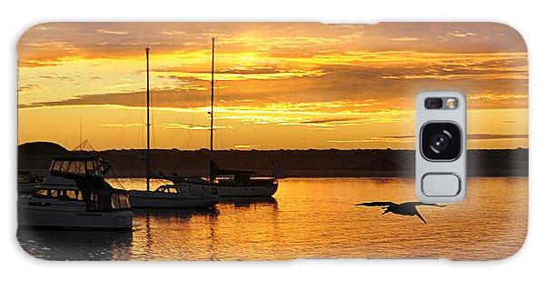 Harbor Sunset Galaxy Case by AJ  Schibig