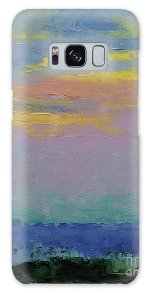 Harbor Sunset Galaxy Case by Gail Kent