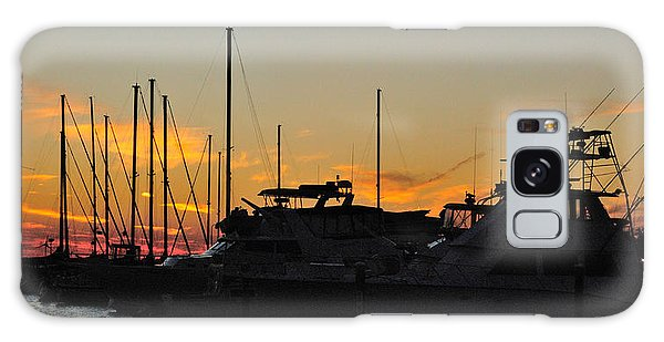 Harbor Sunset Galaxy Case
