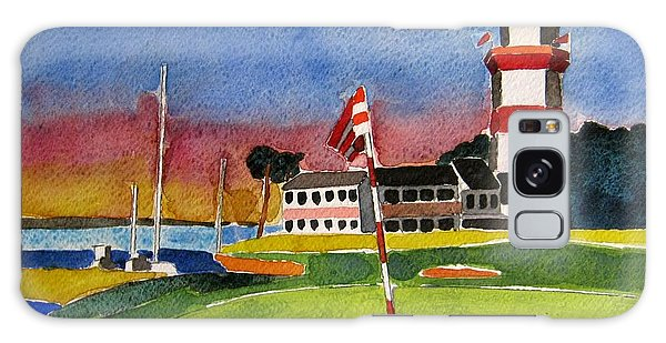 Lighthouse Galaxy Case - Harbour Town 18th Sc by Lesley Giles