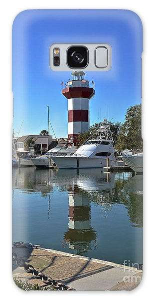 Harbor Town Lighthouse Galaxy Case by Carol  Bradley
