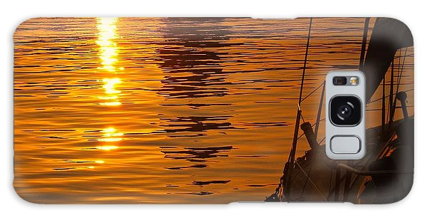 Harbour Sunset Galaxy Case by Clare Bevan