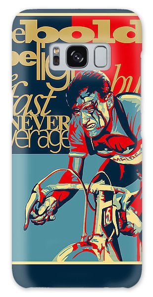 Motivational Galaxy Case - Hard As Nails Vintage Cycling Poster by Sassan Filsoof