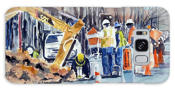 Hard Hats Digging Crew Galaxy Case