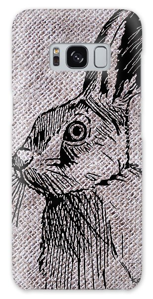 Hare On Burlap Galaxy Case