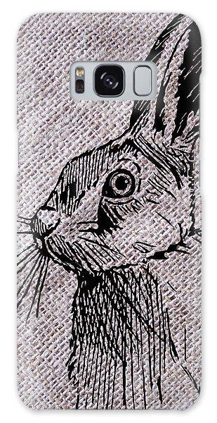Hare On Burlap Galaxy Case