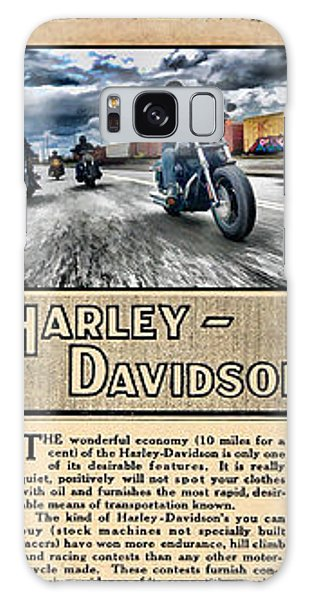 Harley-davidson Montage With Austin Map Galaxy Case