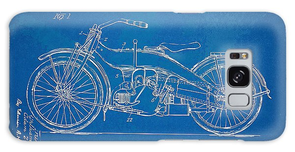 Motorcycle Galaxy S8 Case - Harley-davidson Motorcycle 1924 Patent Artwork by Nikki Marie Smith