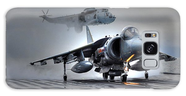 Harrier Gr9 Takes Off From Hms Ark Royal For The Very Last Time Galaxy Case by Paul Fearn