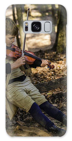 Galaxy Case featuring the photograph Harts Square Musician by Donald Brown