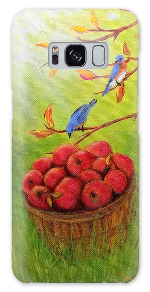 Harvest Apples And Bluebirds Galaxy Case