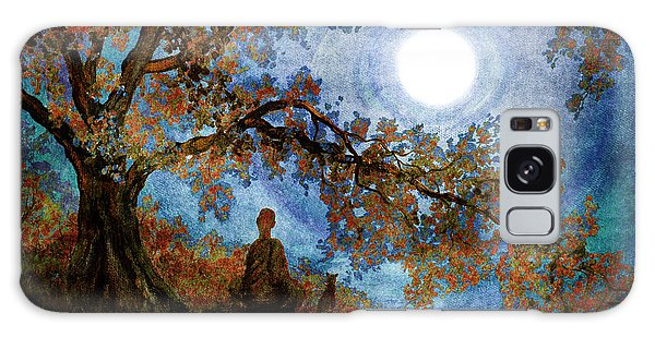 Harvest Moon Meditation Galaxy Case by Laura Iverson