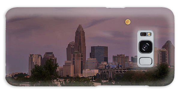 Harvest Moon Over Charlotte Galaxy Case by Serge Skiba