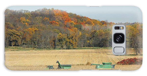 Harvesting Iowa Corn  Galaxy Case