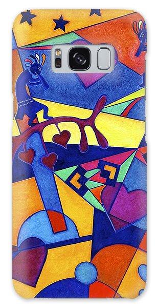 Harvesting The Love Kokopelli Art  Galaxy Case