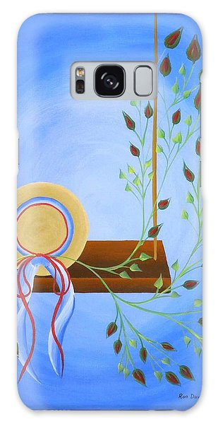 Hat On A Swing Galaxy Case by Ron Davidson